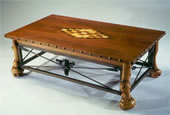 Burl Inlaid Coffee Table